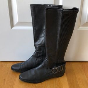 Calvin Klein flat black boots